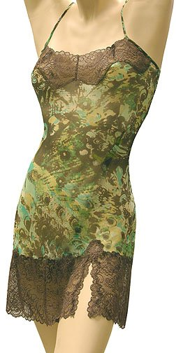 Silk Negligee Mary Green sheer silk with lace trim  7df16b14b